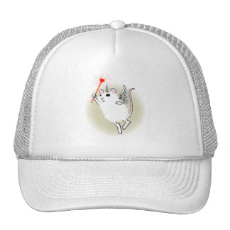 White Faerie Mouse Mesh Hat