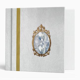 White Fairytale Book Vinyl Binder