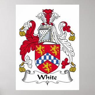 White Family Crest Poster