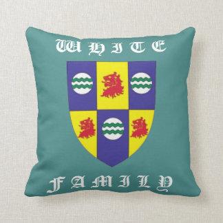 White Family Decendants (Family Shield) Pillow