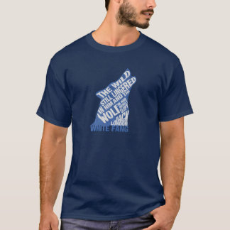 White Fang by Jack London Blue Book Quote T-Shirt