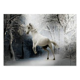 White Fantasy Horse Business Card