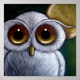 WHITE FANTASY SNOWY OWL Poster