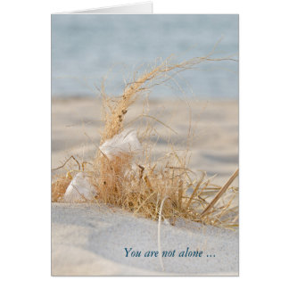 white feather in beach grass card
