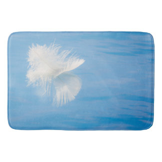 White Feather Reflects on Water | Seabeck, WA Bath Mat