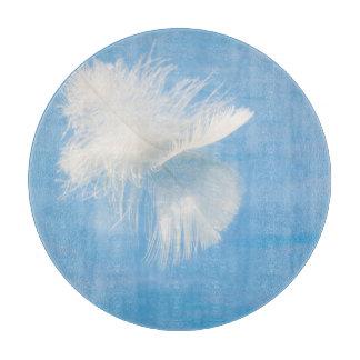 White Feather Reflects on Water | Seabeck, WA Cutting Board