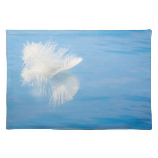 White Feather Reflects on Water | Seabeck, WA Placemat