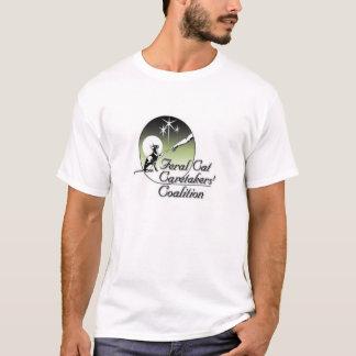 White Feral cat Caretakers Logo No Border T-Shirt