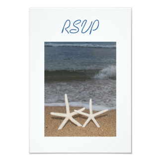 White Finger Starfish RSVP Card