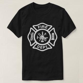 White Fire Department Badge T-Shirt