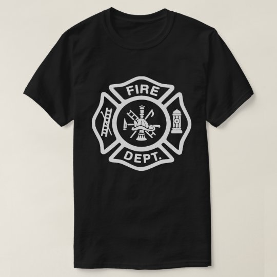 White Fire Department Badge T-Shirt