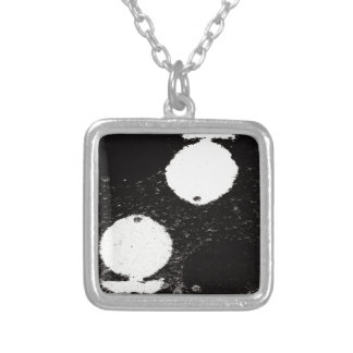 white fishes silver plated necklace
