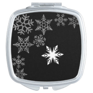 White  Flakes Makeup Mirror