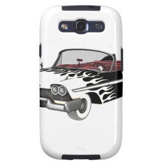 White Flame Classic Car Samsung Galaxy SIII Cases