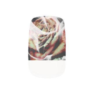 White Flame Rose Nails Minx Nail Art