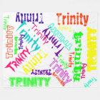 White Fleece Blanket Colourful Bright Name Collage