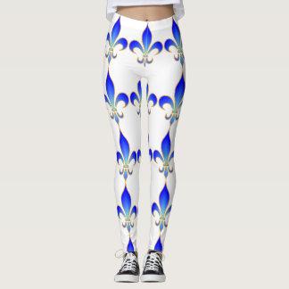 White fleur-de-lis Leggings
