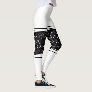 White Flex Band Leggings