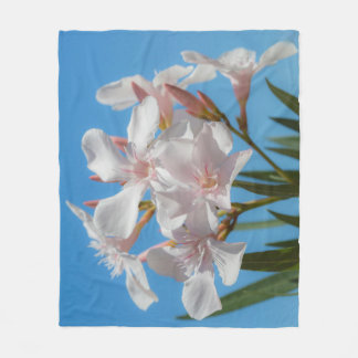 White Flora Fleece Blanket