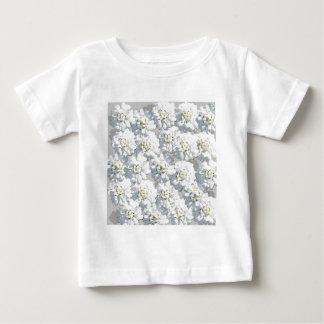 White Flora Pattern Baby T-Shirt