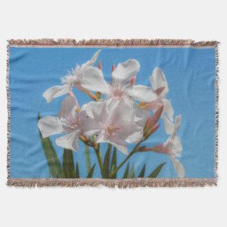 White Flora Throw Blanket