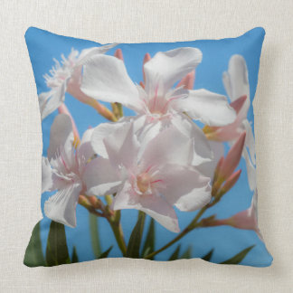 White Flora Throw Pillow