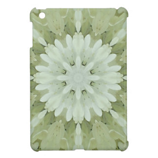 white floral abstract engagement wedding home art iPad mini covers