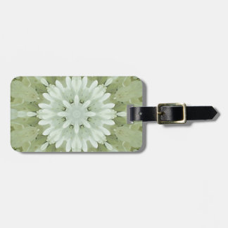 white floral abstract engagement wedding home art luggage tag