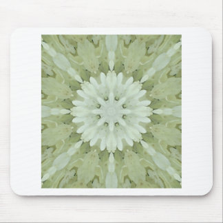 white floral abstract engagement wedding home art mouse pad