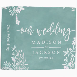 White Floral Any Colour Wedding Photo Album Binders