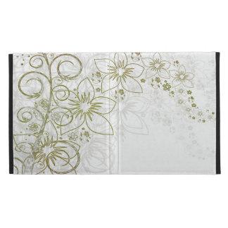 White Floral Art iPad Folio Case