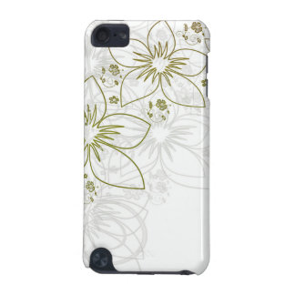 White Floral Art iPod Touch (5th Generation) Cover