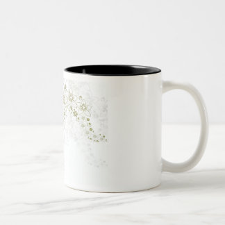 White Floral Art Coffee Mugs