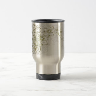 White Floral Art Mug