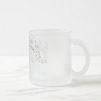 White Floral Art Mugs