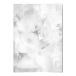 "White Floral Blank Paper Scalloped Edge Fan Paper 5"" X 7"" Invitation Card"