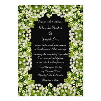 White Floral Garden Wedding Invitation