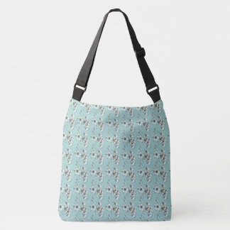 White_Floral-Powder-Blue-Giftware--Totes-Bags Crossbody Bag