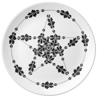 White Floral Star Plate