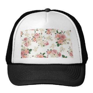 White Floral Trucker Hat