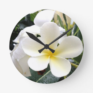 White Floral Wall Clocks