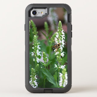 White Flower Bee OtterBox Defender iPhone 7 Case