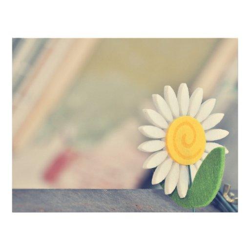 White flower flyers