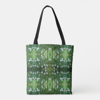 White Flower Fractal Tote Bag