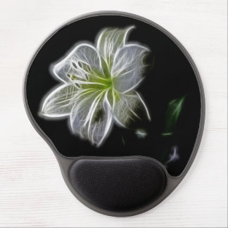 White Flower Gel Mouse Pad