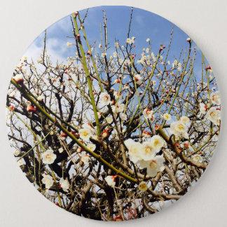 white flower in Japan 6 Inch Round Button