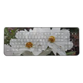 white flower keyboard