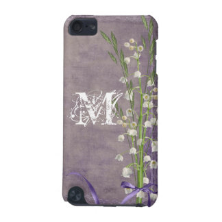 White Flower Lace Monogram Initial IPOD Touch iPod Touch (5th Generation) Case