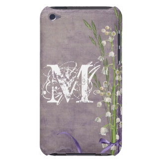 White Flower Lace Monogram Initial IPOD Touch iPod Touch Covers