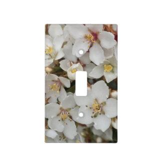 White Flower Light Switch Cover